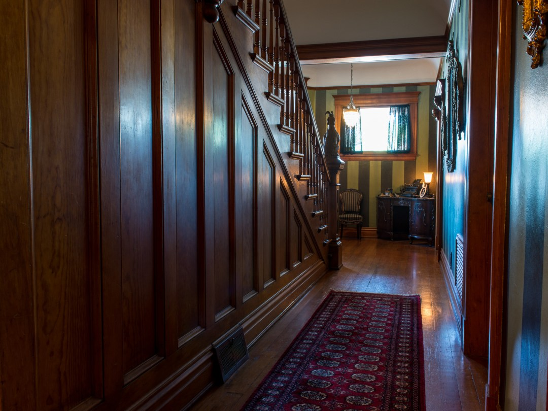 Entry hall looking toward front