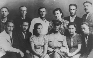 A group portrait of some of the participants in the uprising at the Sobibor killing center. Poland, August 1944. Picture from the US Holocaust Memorial Museum