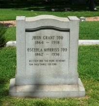 Glendale Cemetery -- John Tod Jr & Osceola M Tod