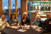 Ken Caryl Historical Society members Vinny Badolato, Pat Badolato, Marilyn Elrod, Marilyn Norris, and Jeff Allison at Mt. Vernon Country Club October 17th. Photo by Matthew Lewis.