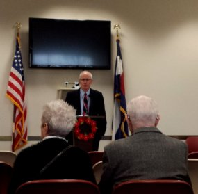 Chief Judge Phil McNulty moderated the presentations at Thursday's celebration.