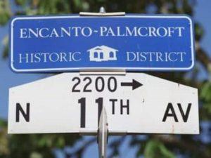 Encanto-Palmcroft,Historic,District,street,sign,phoenix