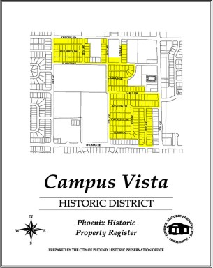 campus vista,map,historic,district,neighborhood,area,phoenix,arizona