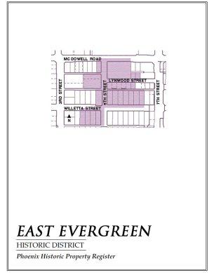 east evergreen,map,historic,district,neighborhood,area,phoenix,arizona