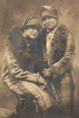 Two Sisters in Plaid Coats