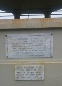 Plaques on Island Bay rotunda, a memorial rotunda