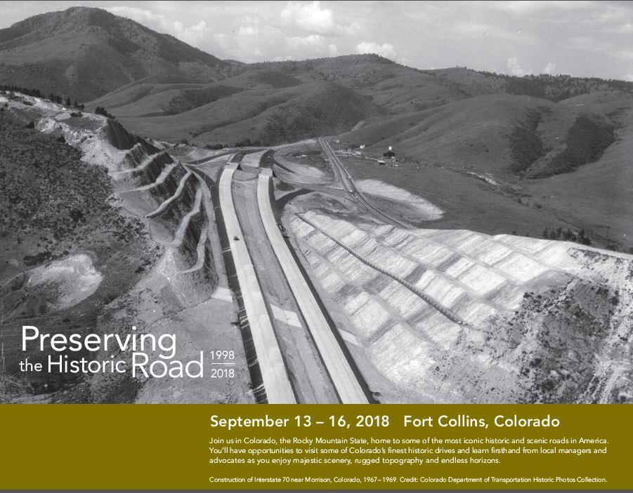 Cover image of historic hogback road in Colorado from 2018 Fort Collins Proceedings