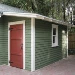 Additional storage can be added to any garage with a shed roofed bump out