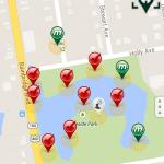 Munzee-ing around Lakeside Park