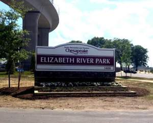 Elizabeth River Park is a newly restored and expanded park under the Jordan Bridge in South Norfolk. There is a playground, a dog park, a gazebo, an adult exercise area with equipment, tables and shelter.