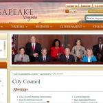 Chesapeake City Council meets 2nd, 3rd, 4th Tuesdays