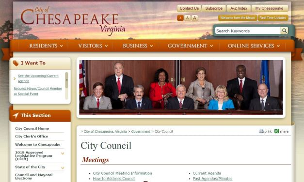 Chesapeake City Council meets 2nd, 3rd, 4th Tuesdays