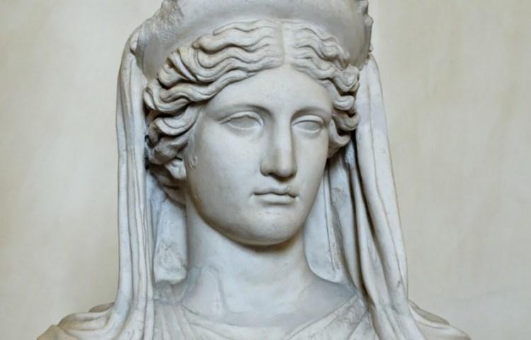 Buste van de godin Demeter
