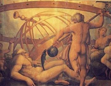 Cronus verslaat Uranus - Grigori Vasari