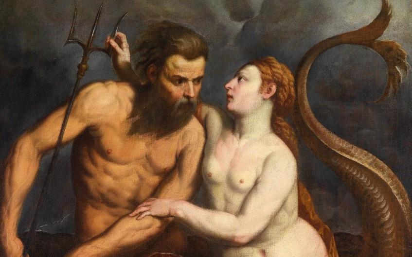 Neptunus (Poseidon) en zijn vrouw Amphitrite - Paris Bordone, 1560