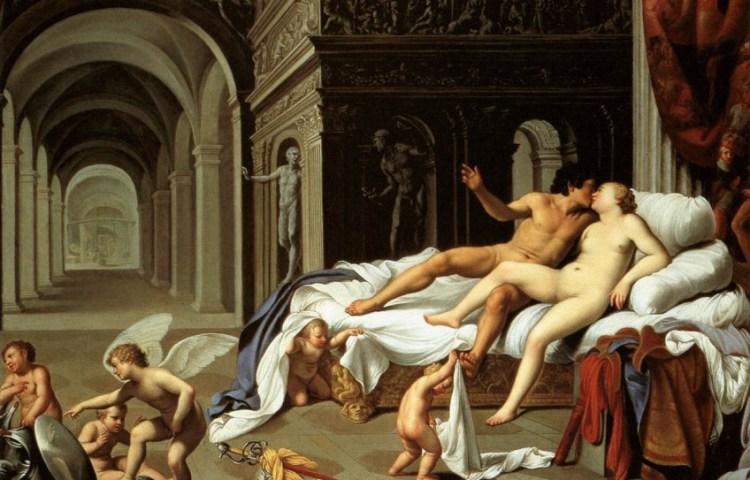 Venus (Aphrodite) en Mars (Ares) bedrijven de liefde - Carlo Saraceni (Museo Thyssen-Bornemisza)