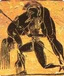 Ajax met Achilles op zijn rug