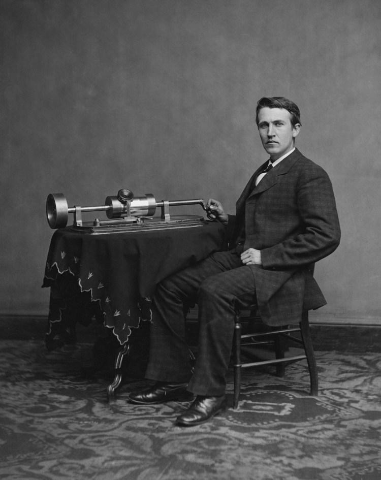 Edison met zijn fonograaf