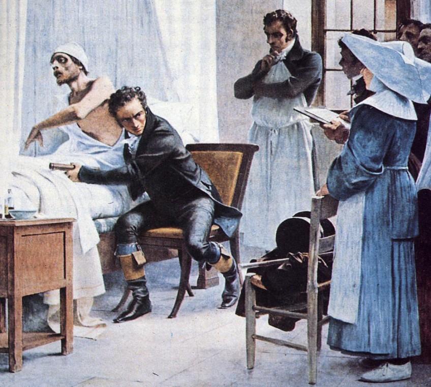 Laënnec aan het werk, 1816