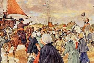 Aankomst Willem I in Scheveningen in 1813