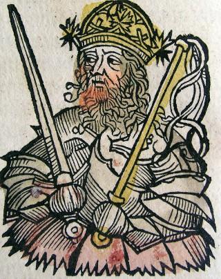 Attila in het Liber Chronicarum (1493)