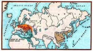 Het rijk van Attila de Hun