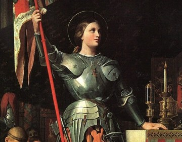 Ingres 1854, Jeanne d'Arc bij de kroning van Karel VII in Reims