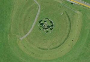 Stonehenge gezien vanuit de lucht (Google Maps)