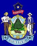 Embleem van de Amerikaanse staat Maine