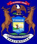 Motto en embleem van de Amerikaanse staat Michigan