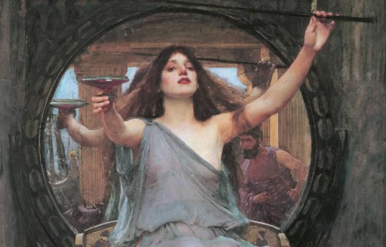 Circe en Odysseus door John William Waterhouse