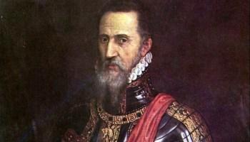 De Hertog van Alva, ofwel Don Fernando Álvarez de Toledo - Schilderij door Titiaan