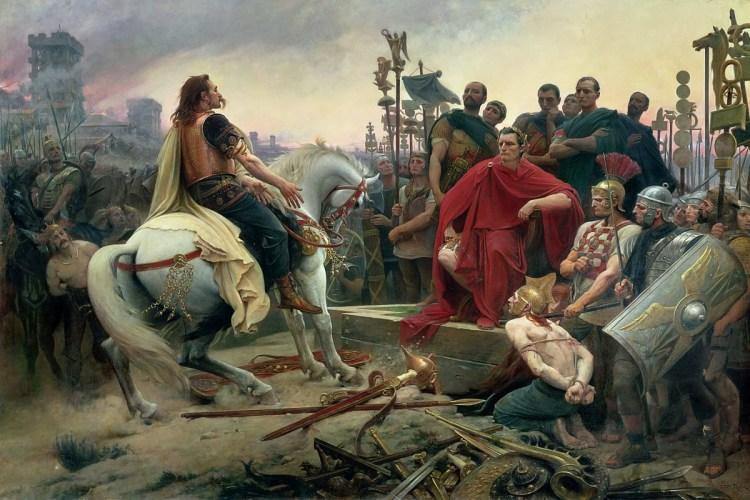 Overgave van Vercingetorix, schilderij van L. Royer 1888