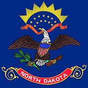 Vlag van de Amerikaanse staat North Dakota