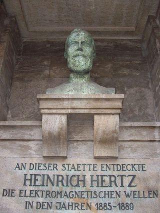 Buste van Heinrich Hertz in Karlsruhe - cc