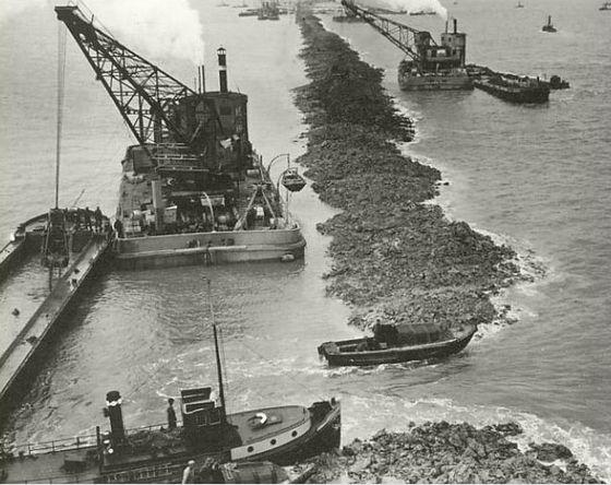 Het sluiten van het laatste gat in de Afsluitdijk