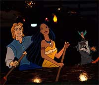 John Smith en Pocahontas in de Disney-uitvoering