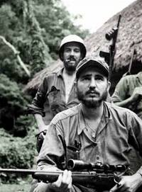 Fidel Castro in de jungle van de Sierra Maestra