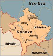 Kaart van Kosovo