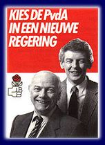 PvdA verkiezingsposter uit 1986