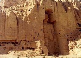 Een van de Boeddhabeelden die in 2001 door de Taliban werden vernietigd