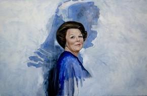 Het door Ans Markus vervaardigde portret van koningin Beatrix