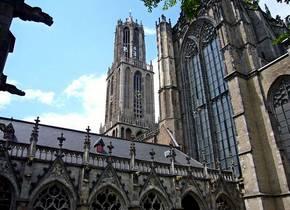 De vondst werd gedaan aan de voet van de Domtoren in Utrecht