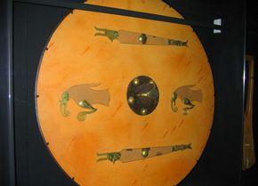 Foto van een willekeurig Viking-schild