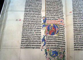 Fragment uit een bijbel uit de Middeleeuwen