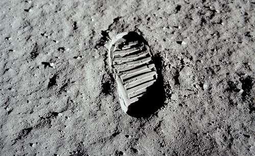 De beroemde foto die Aldrin maakte op de maan (Foto: NASA)