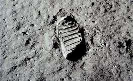 Schoenafdruk op de maan (NASA)