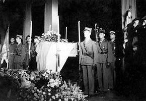 Begravenis van Wladyslaw Sikorski in 1943