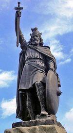 Standbeeld van Alfred de Grote in Winchester