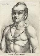 Portret van een indiaan (Wenzel, 1645)